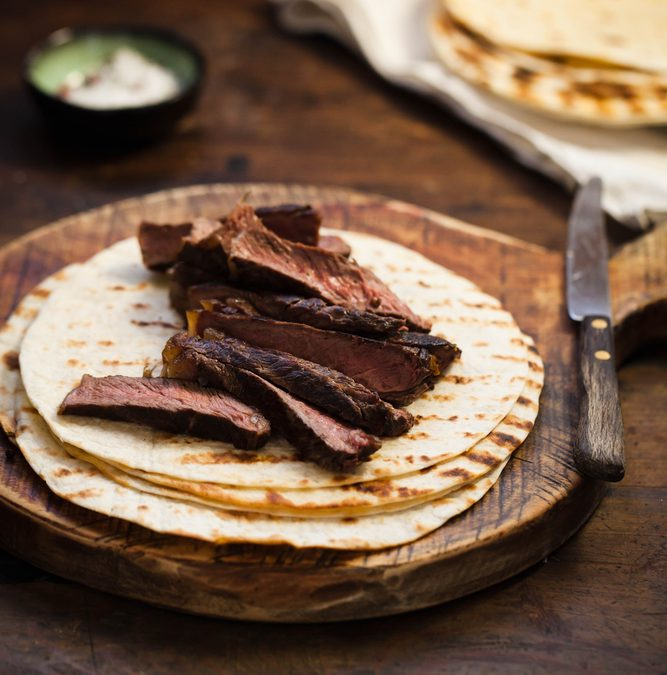 Flank Steak Tacos with Radish Slaw