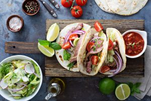 Market Table serves savory flank steak tacos
