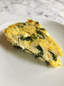 Spinach Artichoke and Goat Cheese Frittata