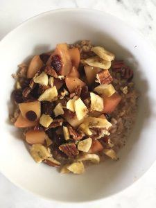 Warm Farro and Fruit Bowl
