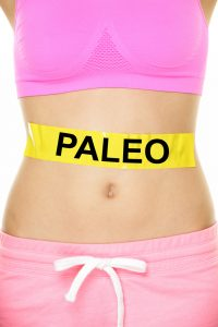 Paleo measuring strip around waist.