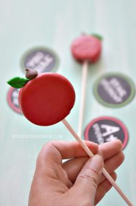 Decorated chocolate covered cookie pop