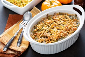 Traditional green bean casserole.