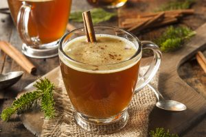 Satisfying hot buttered rum.