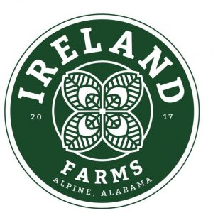 Ireland Farms logo.